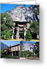Ahwahnee Hotel In Yosemite National Park Greeting Card