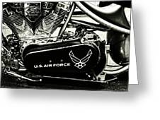 Air Force Motorcycle Greeting Card