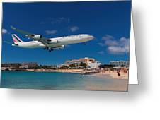 Air France At St. Maarten Greeting Card