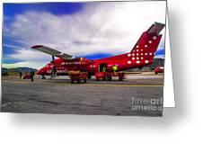 Air Greenland Greeting Card