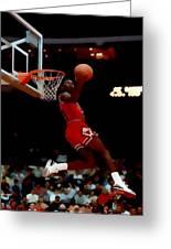 Air Jordan Reverse Slam Greeting Card
