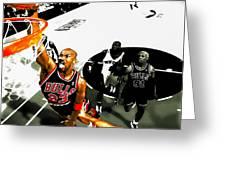 Air Jordan Rises Greeting Card