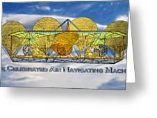 Air Navigating Machine Greeting Card