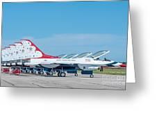 Air Show Thunderbirds  Greeting Card
