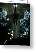 Air To Air Refueling At Night Greeting Card