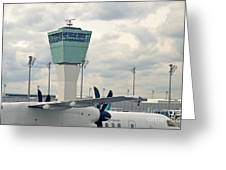 Air Traffic Control Tower Greeting Card by Sami Sarkis