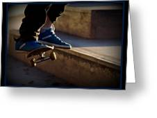 Airborne Skateboarder Greeting Card