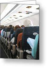 Airline Travel. Greeting Card