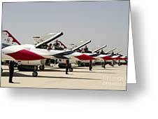 Airmen Conduct Preflight Preparations Greeting Card