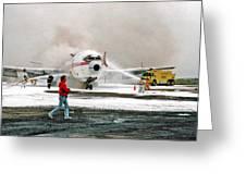 Airplane Crash Drill Landscape Greeting Card