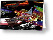 Airplanes Collage  Greeting Card