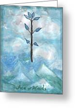 Airy Ace Of Wands Greeting Card