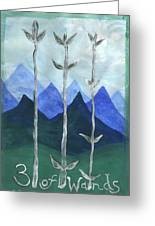 Airy Three Of Wands Greeting Card
