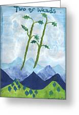 Airy Two Of Wands Greeting Card