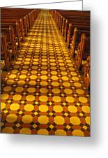 Church Aisle Patterned Floor Greeting Card