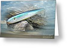 Ajs Baby Weakfish Saltwater Swimmer Fishing Lure Greeting Card