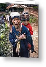 Akha Tribe II Greeting Card