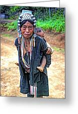 Akha Tribe Greeting Card