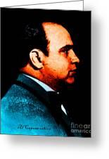 Al Capone C28169 - Black - Painterly - Text Greeting Card