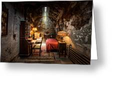 Al Capone's Cell - Historical Ruins At Eastern State Penitentiary - Gary Heller Greeting Card