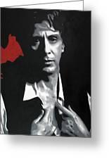 Al Pacino  Greeting Card by Luis Ludzska