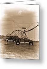 Alabama Irrigation System Vignette Greeting Card
