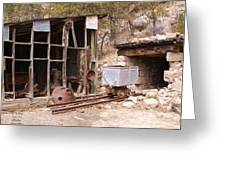 Aladdin Coal Mine Greeting Card