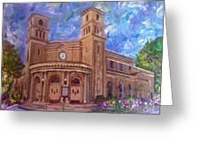 Alameda 1909  Twin Towers Church - Italian Renaissance  Greeting Card