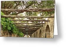 Alamo Walkway Greeting Card