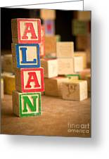 Alan - Alphabet Blocks Greeting Card