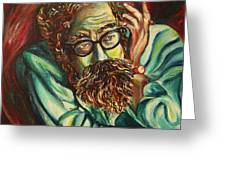 Alan Ginsberg Poet Philosopher Greeting Card