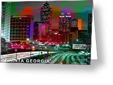 Alanta Georgia Skyline  Greeting Card