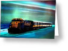 Alaska Aurora Train  # Da 080 Greeting Card