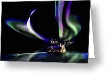 Alaska Aurora Unpredictable Spirals # Da 099  Greeting Card