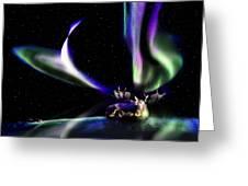 Alaska Aurora Unpredictable Spirals        Greeting Card