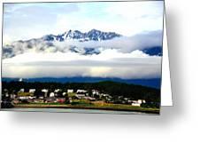 Alaska Coastal Village Greeting Card