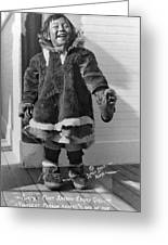 Alaska Eskimo Girl Greeting Card