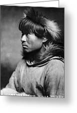 Alaska Eskimo Man, C1906 Greeting Card
