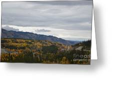 Alaska Highway At Lewes River Bridge  Greeting Card