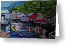 Alaska. Ketchikan Greeting Card