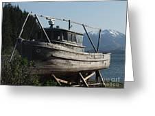 Alaska Ketchikan Dry Dock Greeting Card