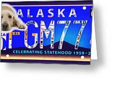 Alaska License Plate Greeting Card