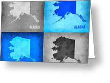 Alaska Map Art Greeting Card