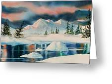 Alaska Panorama Greeting Card by Teresa Ascone