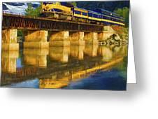 Alaska Railroad Reflections Greeting Card