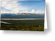 Alaska Range Greeting Card by Chris Heitstuman