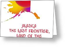Alaska State Map Collection 2 Greeting Card