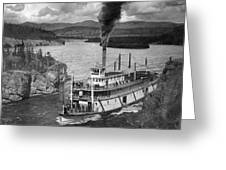 Alaska Steamboat, 1920 Greeting Card