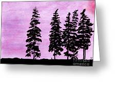 Colorful - Alaska - Sunset Greeting Card