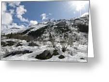 Alaskan Mountain Greeting Card